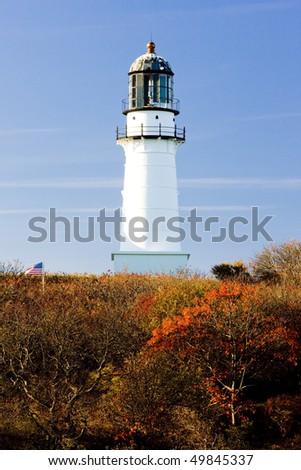 Cape Elizabeth Lighthouse, Maine, USA - stock photo