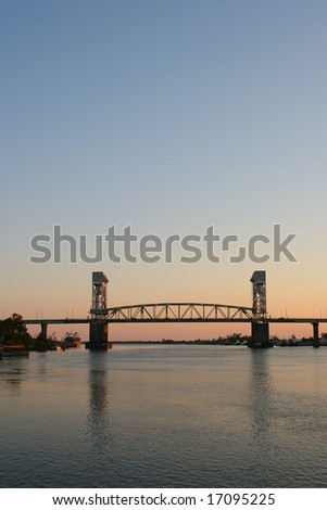 Cape Fear Memorial Bridge in Wilmington, NC