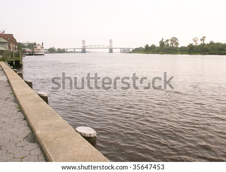 Cape Fear waterfront - stock photo