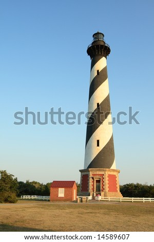 Cape Hatteras Lighthouse against blue sky
