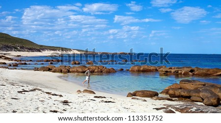 Cape Leeuwin lighthouse, We Australia - stock photo
