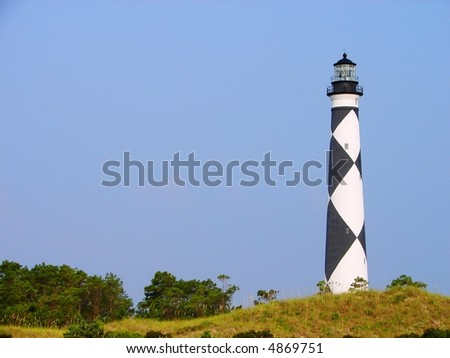 Cape Lookout lighthouse on the Outer Banks, NC