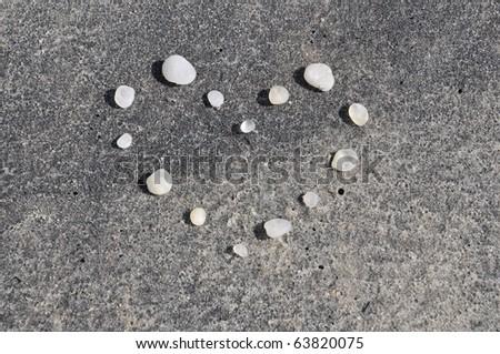 Cape May Diamonds Arranged in a Heart Shape Horizontal - stock photo