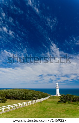Cape Otway Lighthouse, along the Great Ocean Road in Victoria, Australia