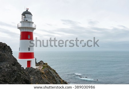 Cape Palliser lighthouse, Wairarapa, North Island, New Zealand