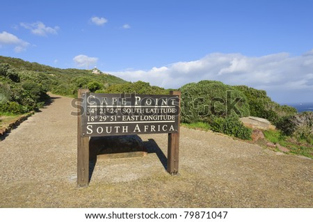 Cape Point Sign, South Africa - stock photo