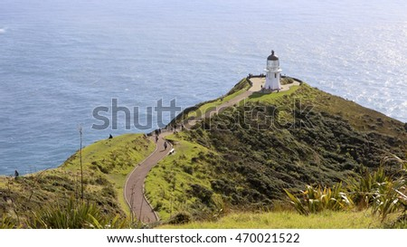 Cape Reinga lighthouse, Cape Reinga/Te Rerenga Walrua, New Zealand