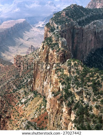 Cape Royal, Grand Canyon National Park, Arizona, North Rim - stock photo