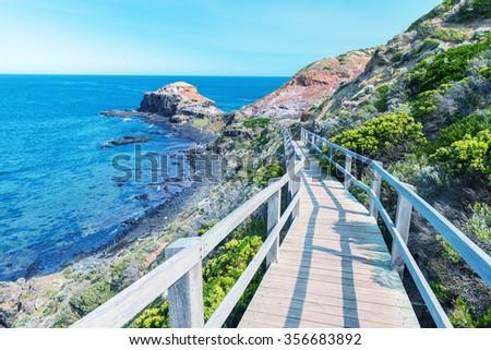 Cape Schanck coastline, Victoria - Southern Australia. - stock photo
