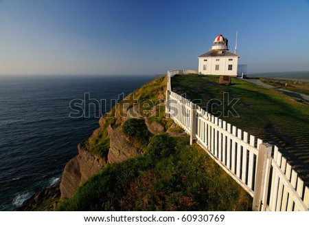 Cape Spear Lighthouse The Most Easterly Point In North America A National Historic Site In Canada - stock photo