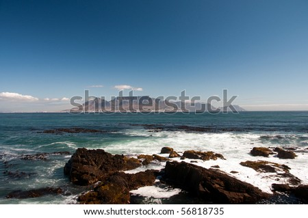 Cape town and Table mountain - stock photo