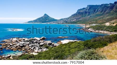 Cape Town Coast Line - stock photo