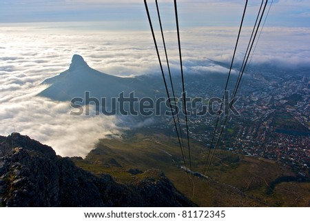 Cape Town from Table Mountain, South Africa - stock photo