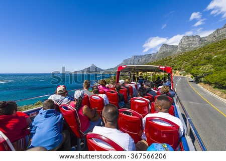 south bus cape town red bus tour south stock photo 373480645 shutterstock