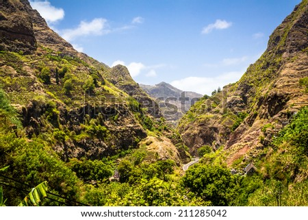 Cape verde - Santo Antão - stock photo
