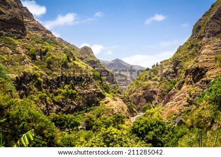 Cape verde - Santo Antão - stock photo