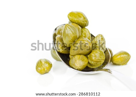 capers isolated - stock photo