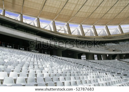 CAPETOWN, SOUTH AFRICA - MARCH 27: Newly completed Green Point Stadium March 27, 2010. The 66,605 seat stadium will host 6 matches, a quarter final and a semi final in the 2010 FIFA World Cup.