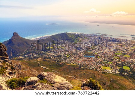 Capetown Views Tabletop Mountain South Africa Stock Photo Edit Now - Table top mountain south africa