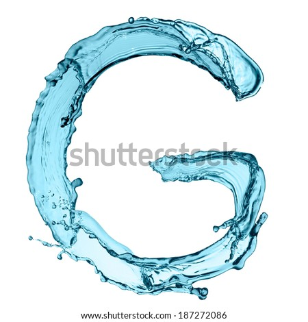 G Letter In Water Capital letter G of water