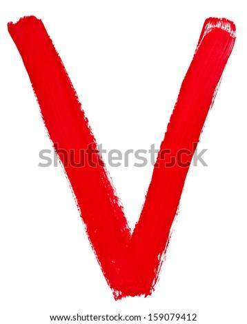 Red Letter V Clip Art Image large red capital letter V