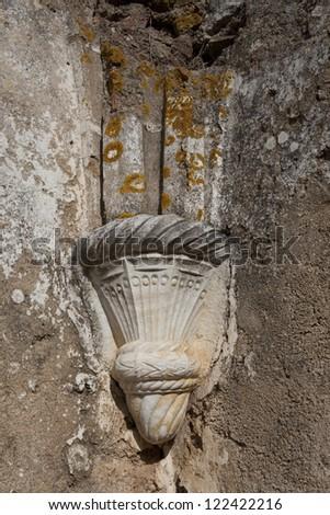 Capitel, columns - stock photo