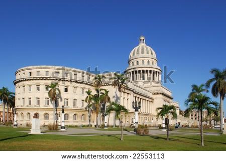 Capitol building in Havana, Cuba - stock photo