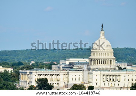 Capitol Building in Washington DC - stock photo