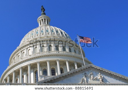 Capitol Building in Washington DC USA - stock photo