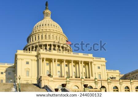 Capitol Building in winter - Washington DC, USA - stock photo
