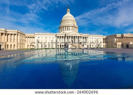 Capitol building Washington DC eastern facade USA US congress - stock photo