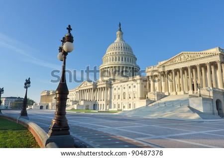 Capitol building, Washington DC United States - stock photo