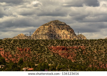 Capitol Butte, Sedona, Arizona - stock photo