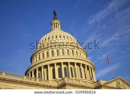 Capitol dome, details, Washington DC, United States - stock photo