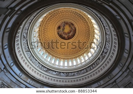 Capitol rotunda - stock photo