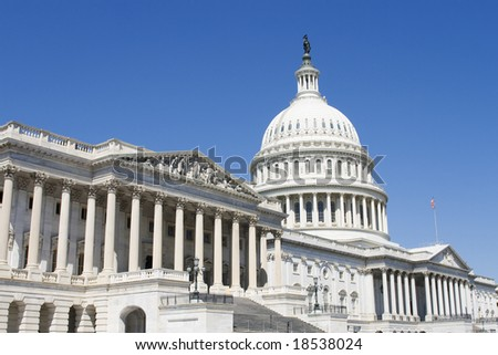 Capitol, seat of government in Washington DC - stock photo