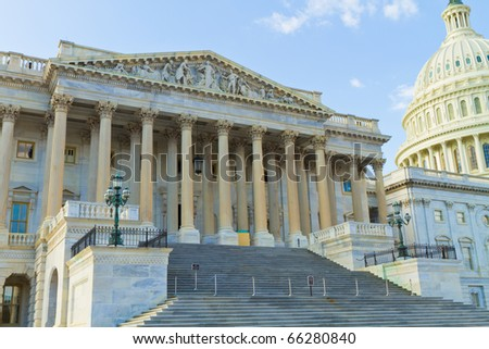 Capitole in Washington D.C. and National Mall - stock photo