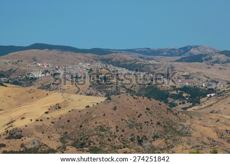 Capizzi small town country province Messina, sicily - stock photo
