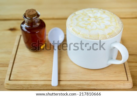 Cappuccino caramel. - stock photo
