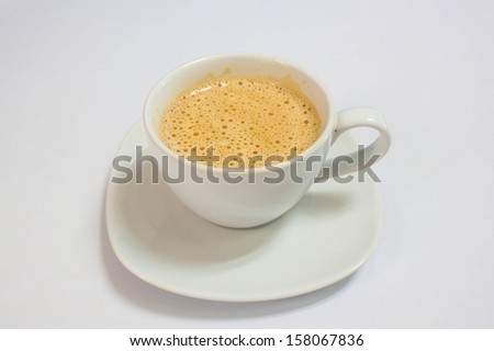 cappuccino coffee cup in isolated background