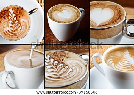 cappuccino composition - stock photo