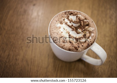 Cappuccino, Cup of Cappuccino Coffee - stock photo