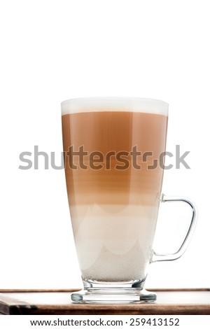 cappuccino or latte coffee - stock photo