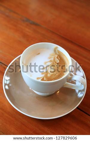 Cappuchino coffee - stock photo