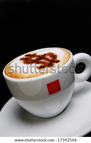 cappucino with dollar symbol