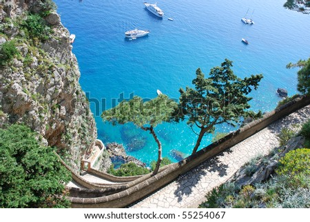 Capri island - stock photo