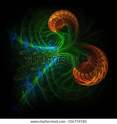 Capricorn abstract illustration - stock photo