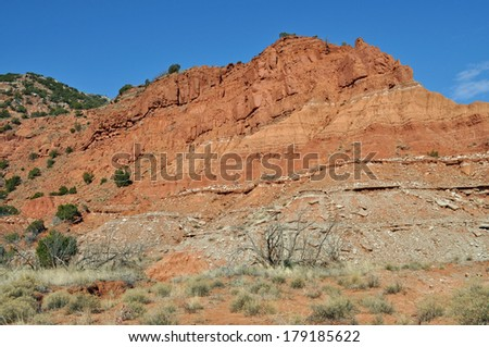 Caprock Canyons State Park, Texas - stock photo