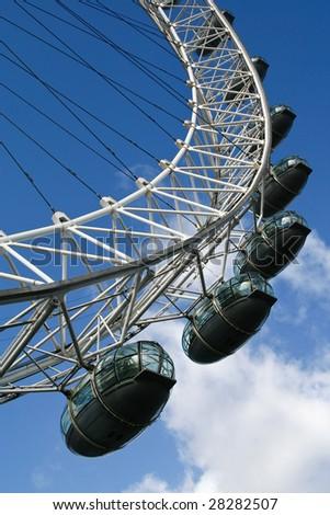 Capsule from London Eye. London. United Kingdom - stock photo