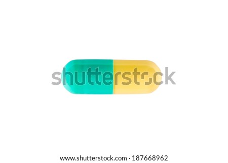 Capsule pill over white background - stock photo